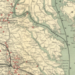 Chesapeake And Ohio Railway Company Map showing Alexandria and City Point Virginia