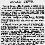 Image of newspaper article, <i>Evening Star</i>, February 1, 1865